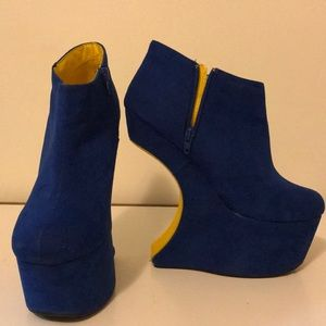 Blue & Yellow Moon Heels